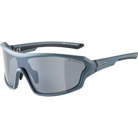 Alpina Lyron Shield P Okulary rowerowe, dirt blue matt/black mirror
